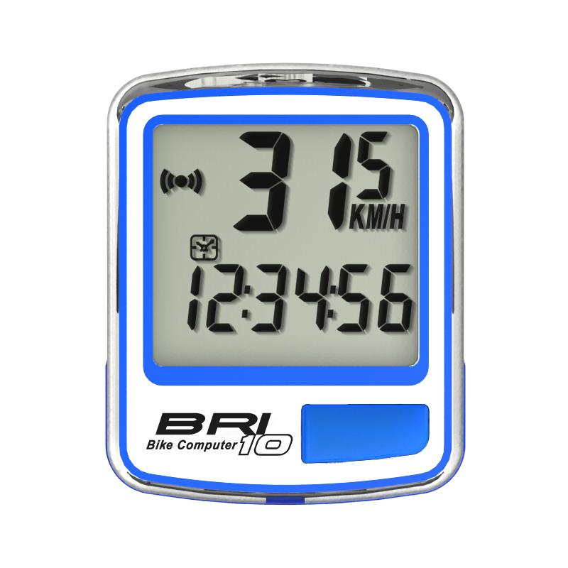 BRI10-Blue koblosuz bisiklet hız sayacı,10 ponksiyon